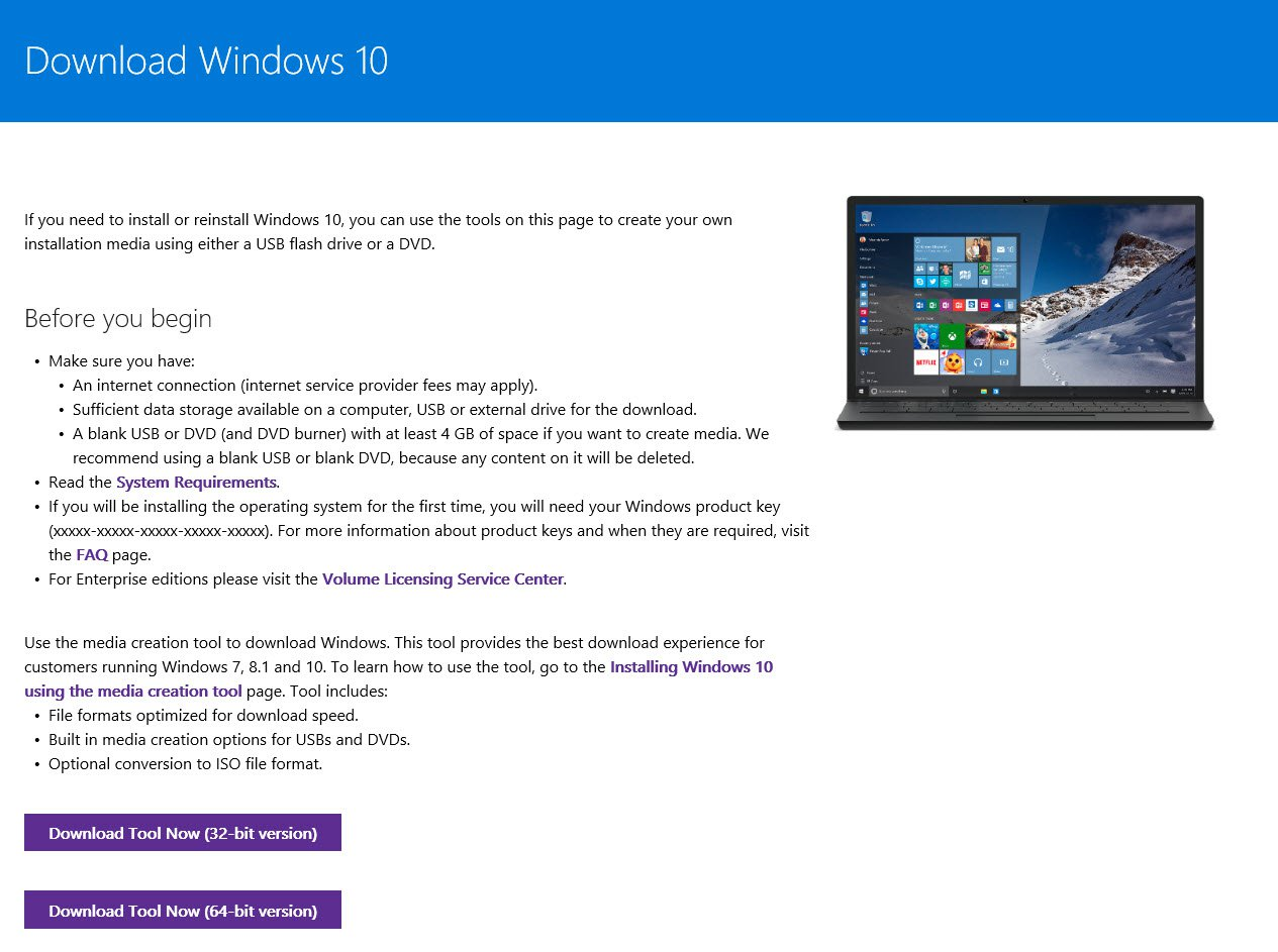 How to download and install windows 10 even if is for Installing windows