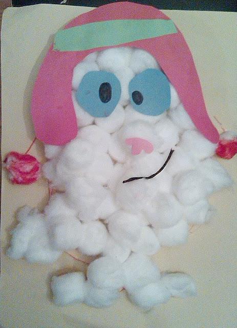 Make a cottonball Abombinable Snowman Yeti Craft.