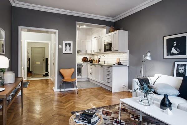 Paredes grises decorar tu casa es for Paredes 2 tonos