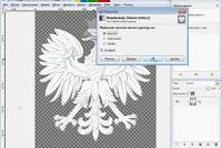 Desaturacja obrazu w Gimp-ie - zrzut ekranu