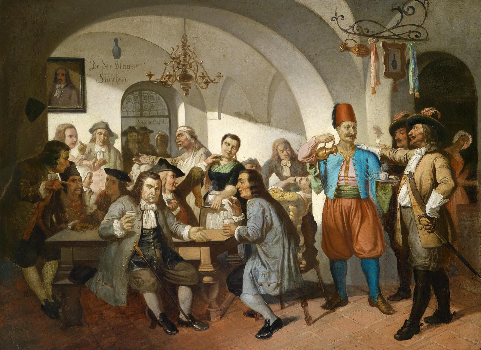El primer café de Viena, Die blaue Flasche, autor anónimo, circa 1900