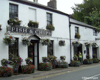 Possibly the prettiest fish & chips shop and restaurant in the world, situated in Usk, Monmouthshire, South Wales.