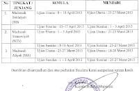 Perubahan Jadwal UAMBN Tahun 2013