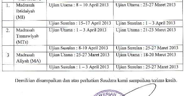 Hadi Soebarnaz Inilah Perubahan Jadwal Uambn Tahun 2013