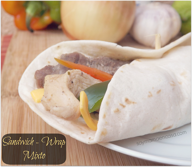 receta facil sandwich wrap recipe