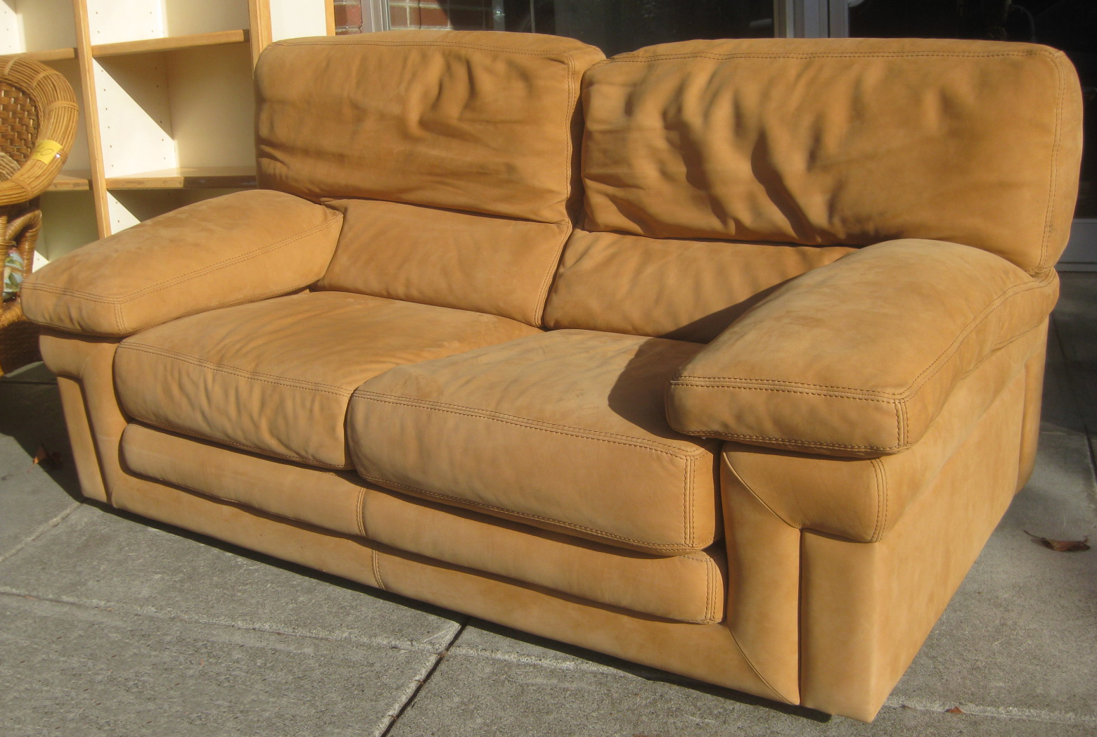 Uhuru furniture collectibles sold suede sofas for Suede furniture