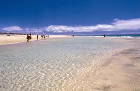 Sotavento increíble playa en las Canarias