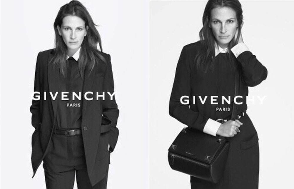 via fashioned by love : Julia Roberts stars in Givenchy campaign