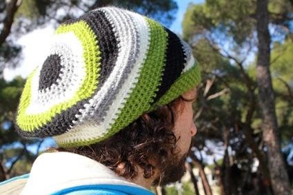 Gorro crochet  rayas