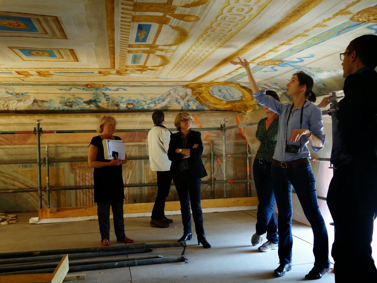 Plafond Servandoni - Inspection Générale des restaurations - Château de Condé