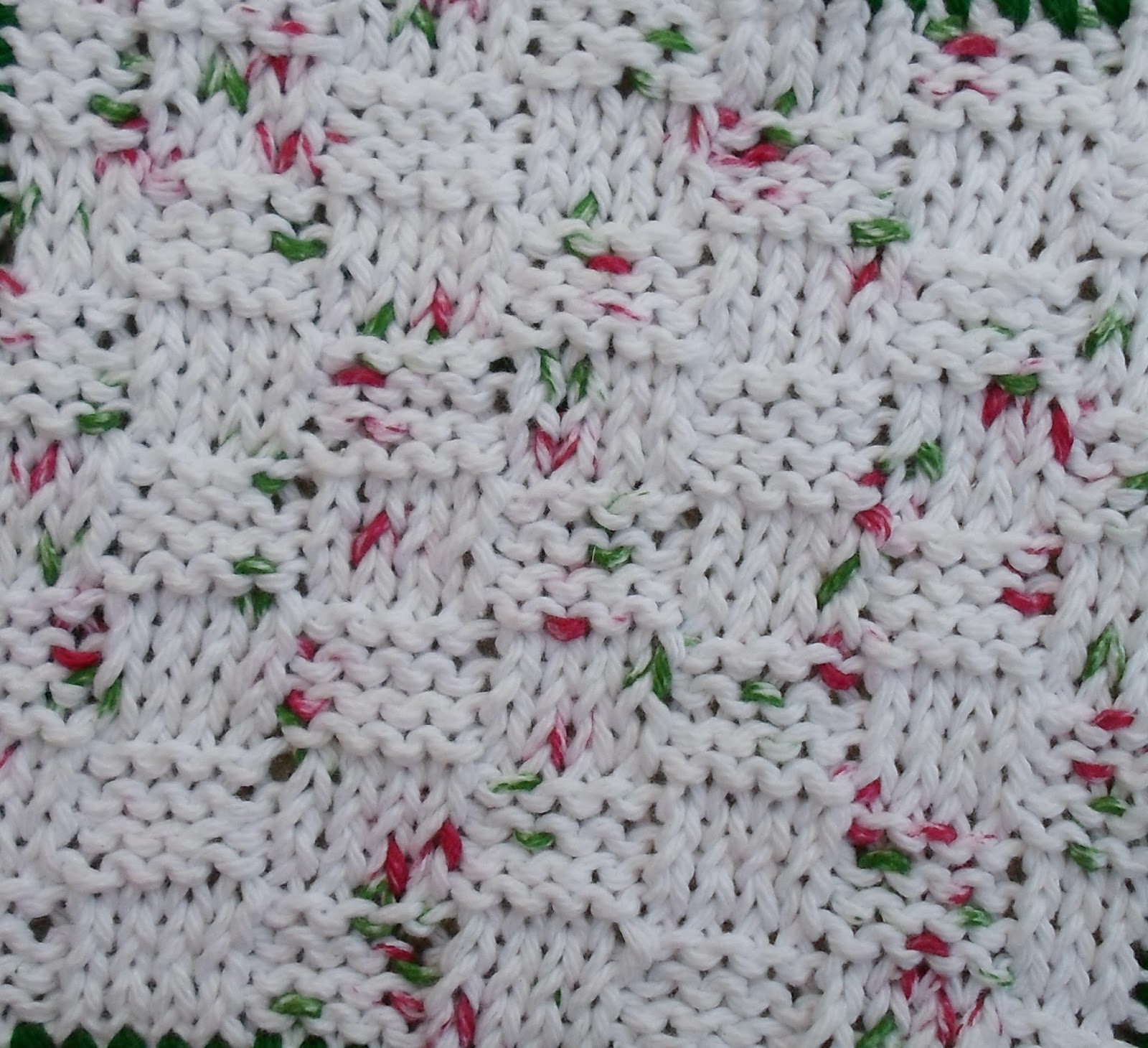 Happier Than A Pig In Mud: Basket-Weave Knit Dishcloth with Crochet ...