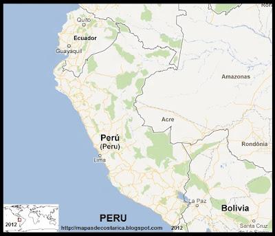 Mapa de PERU, Google Maps