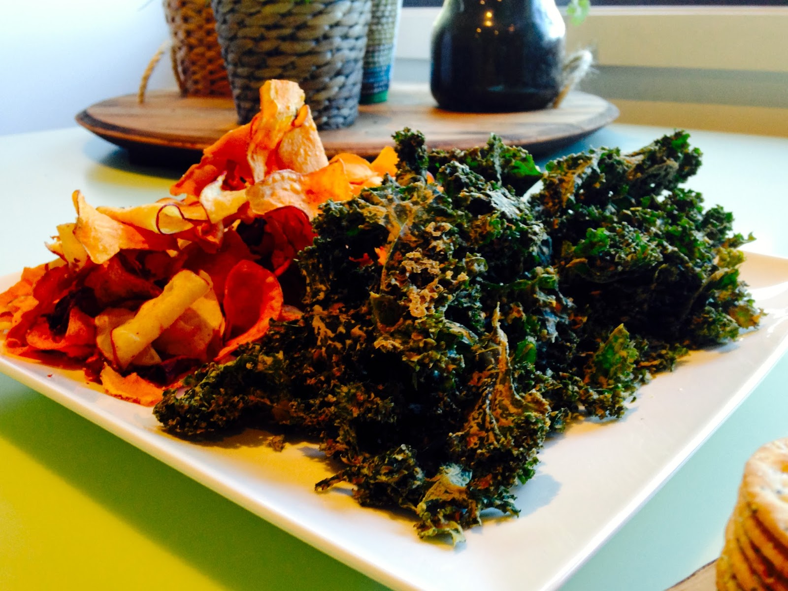 Veggie chips and homemade kale chips