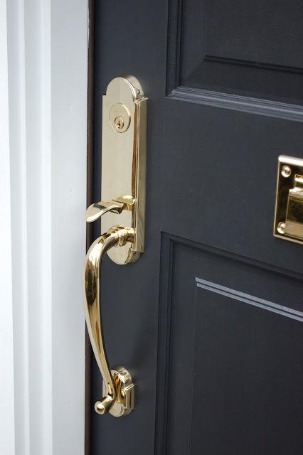 Black paint color for front door