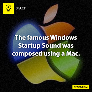 facts , The famous Windows Startup Sound was composed using a Mac.