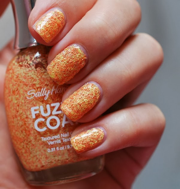 Fuzzy Coat Texture Nail Paint by Sally Hansen peach fuzz