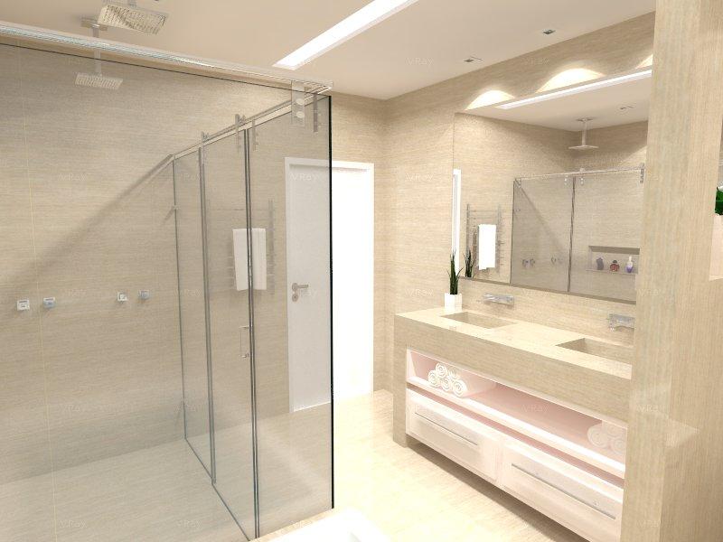 Minha Casa em Vinhedo Projeto  Banheiro Suíte do Casal -> Armario Para Banheiro Suite