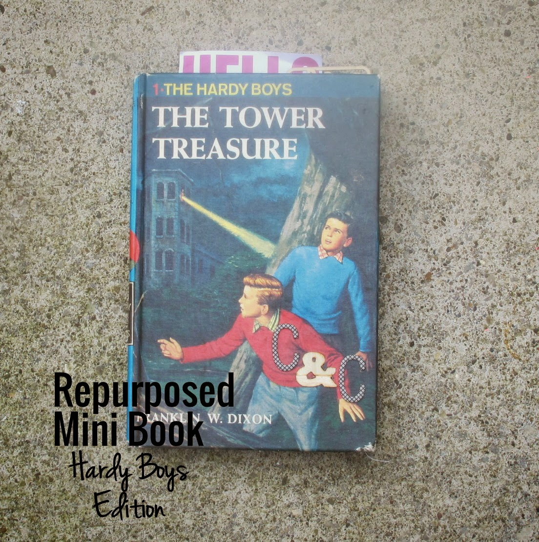 Make a Mini Album from Hardy Boys Book