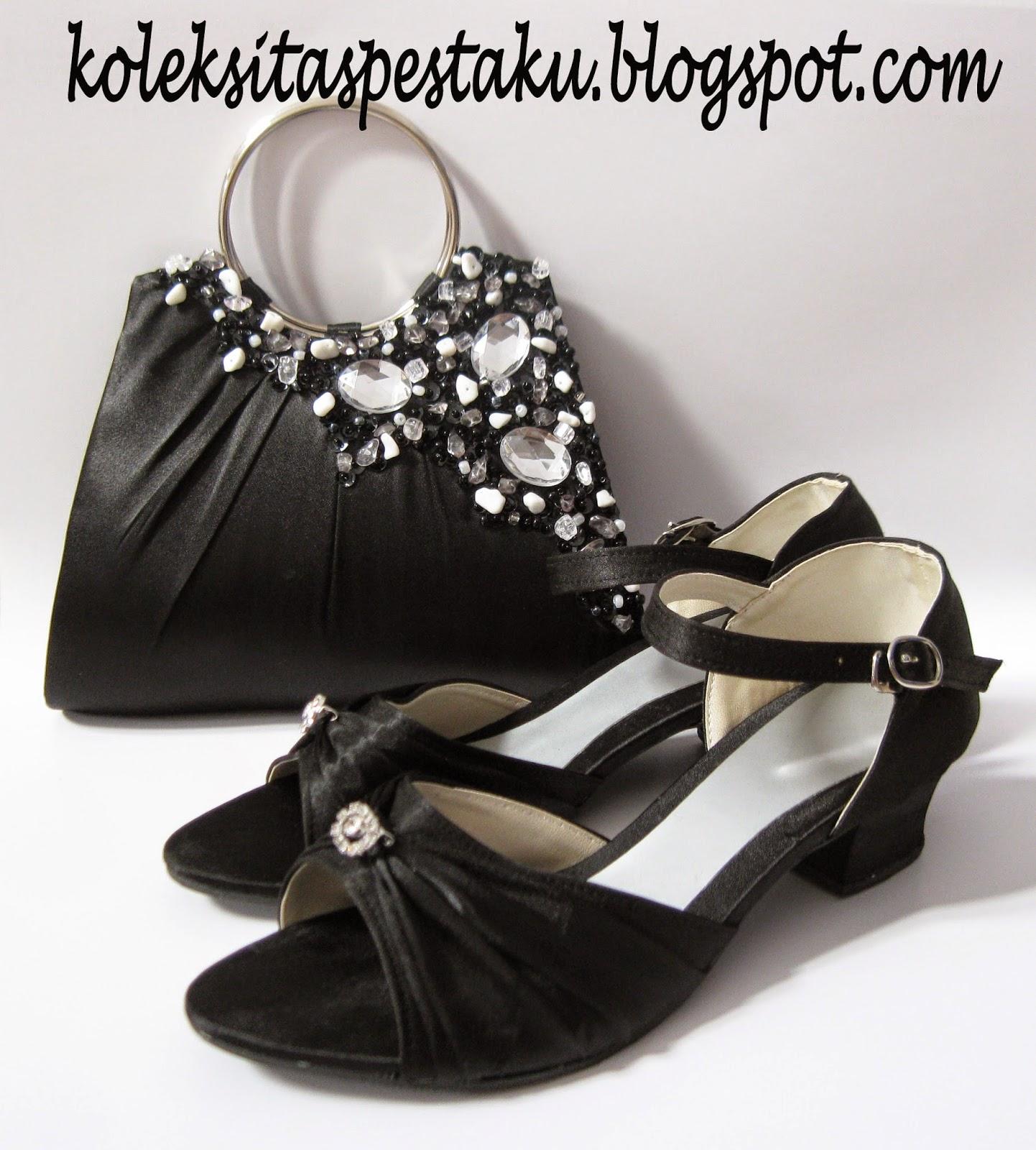 Sepatu dan tas pessta clutch bag hand made cantik murah