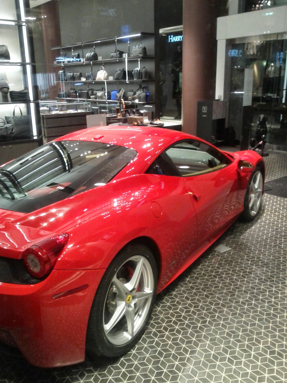 Holt Renfrew Red Ferrari
