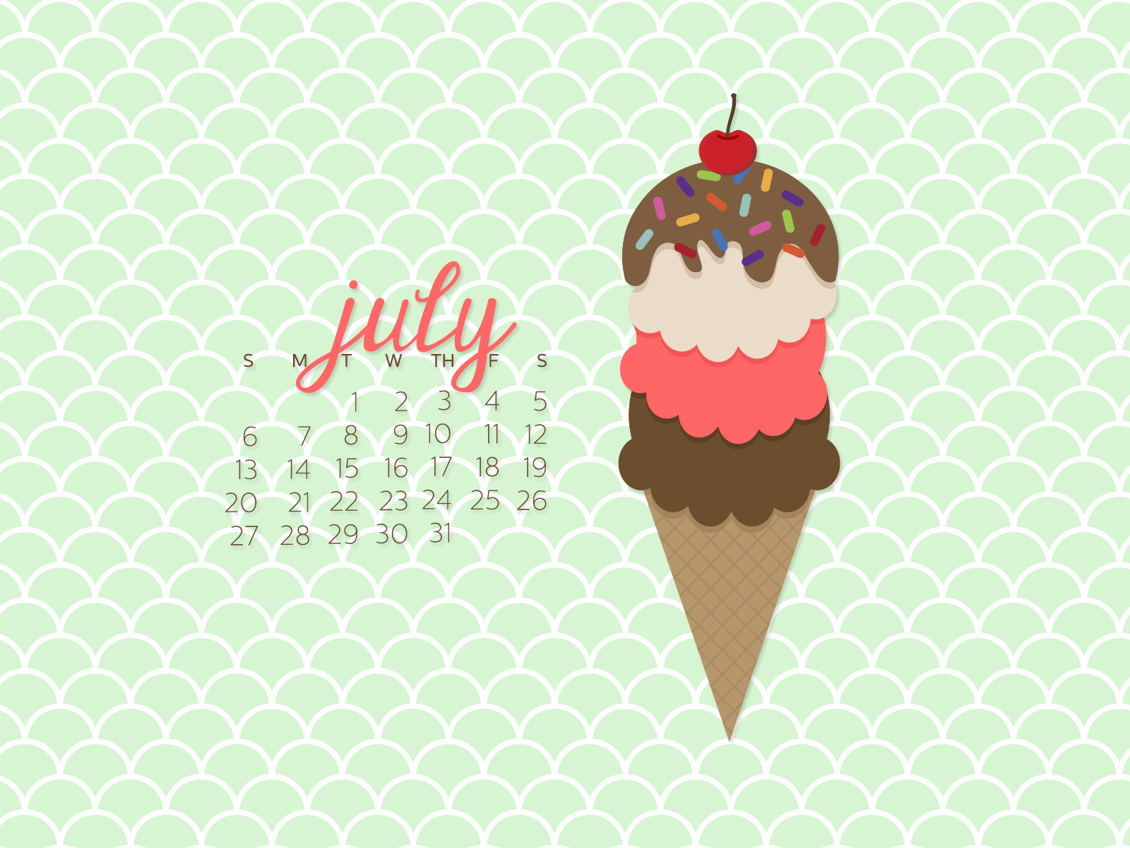 simply brenna desktop calendar wallpaper july 2014