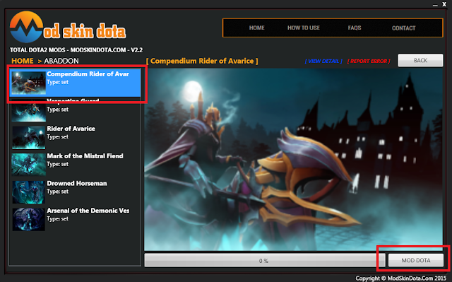Abaddon Compendium Rider of Avarice