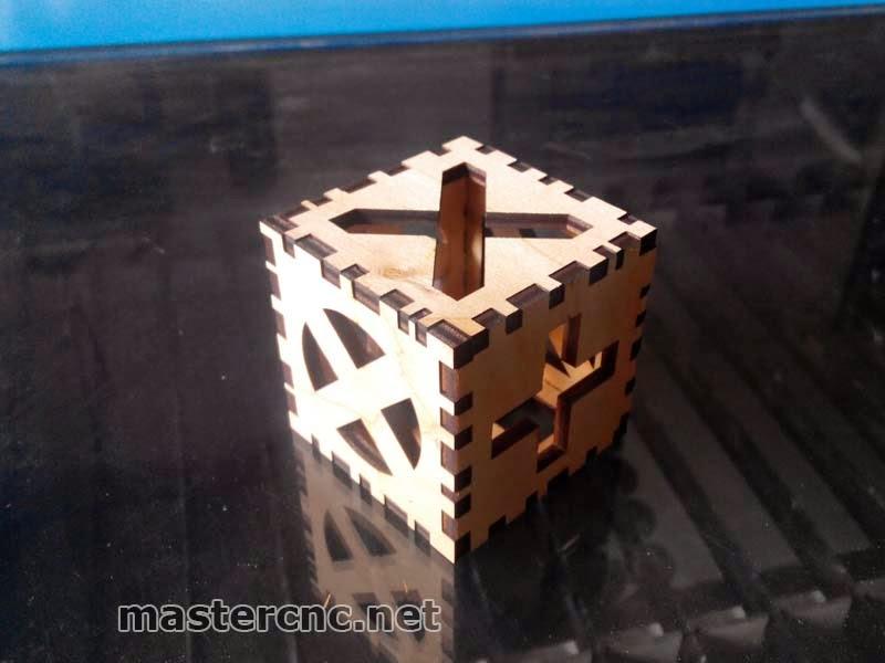 """3D пазл """"Куб"""" лазерная резка фанеры. Днепропетровск"""