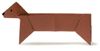 dachshund origami