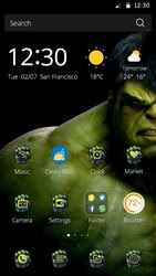 Screenshots of the Hulk for Android tablet, phone.