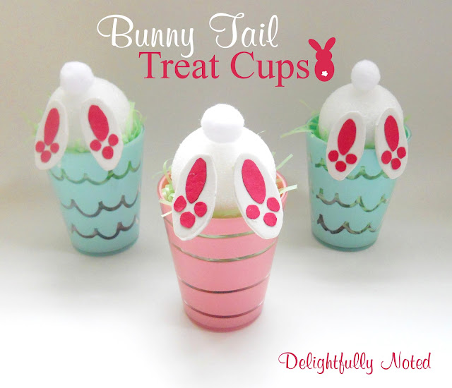 Adorable and Easy Easter Idea for the kids! Bunny Tail Treat Cups
