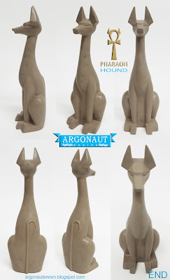Pharaoh Hound Resin Figure Prototype by Argonaut Resins