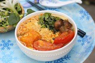 Vegetarian Crab Noodles Recipe (Bún Riêu Chay)