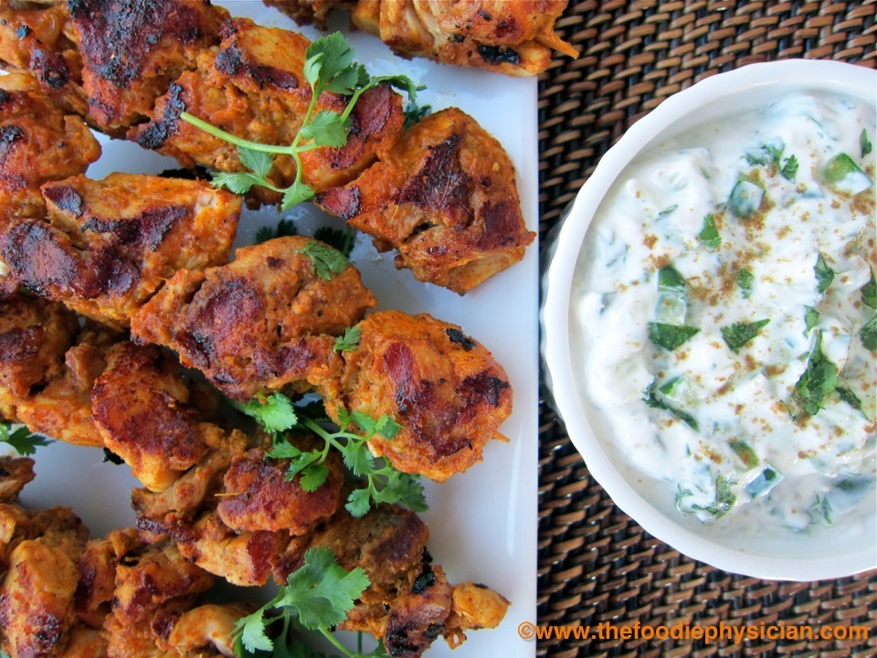 Cook once eat twice tandoori chicken kabobs the foodie physician save forumfinder Image collections
