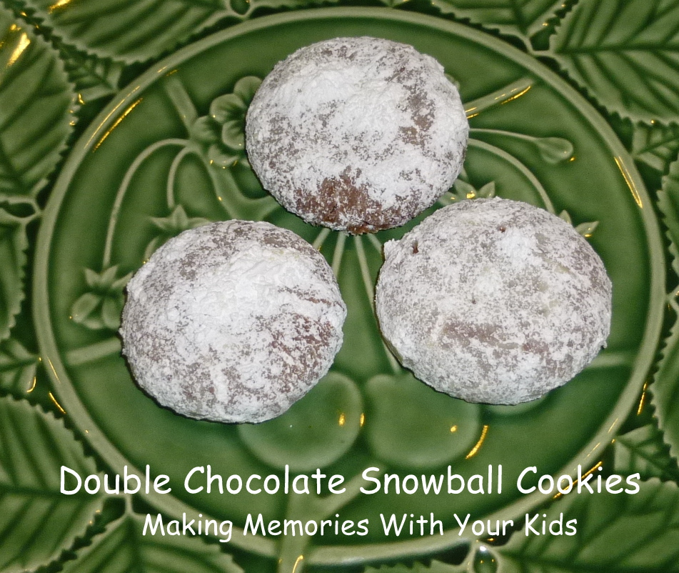 Double Chocolate Snowball Cookies Making