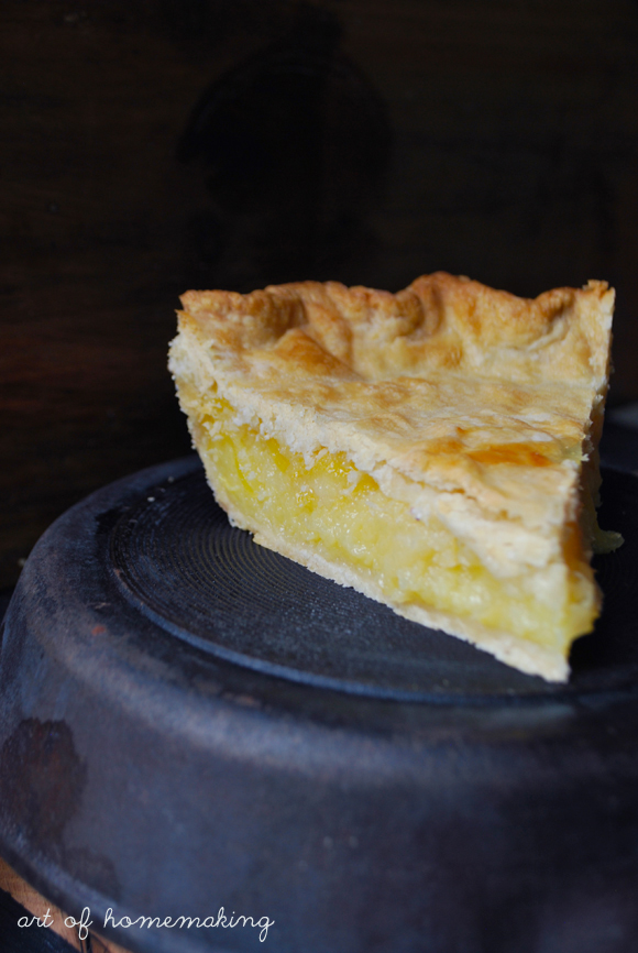The Art of Homemaking: Shaker Lemon Pie
