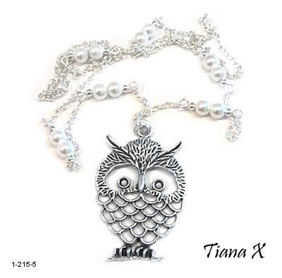 Tiana X - Kaulakoru, pöllö, Huuhkaja, valkoinen