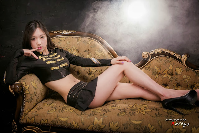 4 Hye Ji in black-Very cute asian girl - girlcute4u.blogspot.com