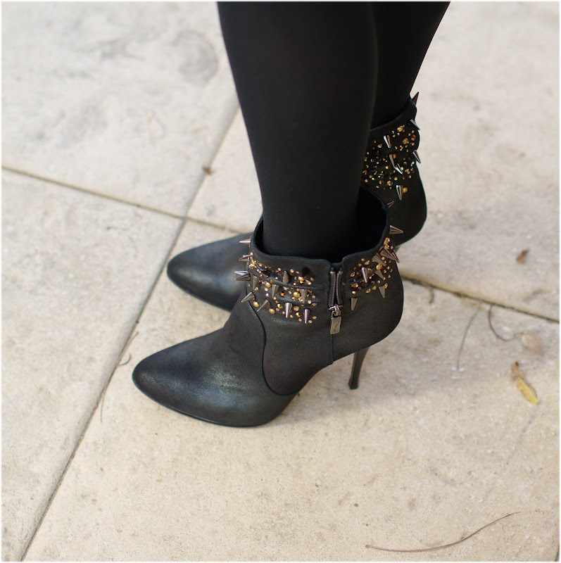 Icone spiked shoes, studded ankle boots