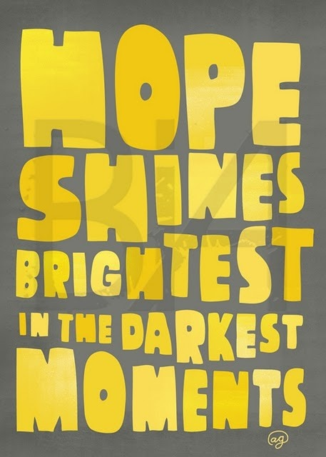Strong enough hope conquers all Inspirational quotes about hope