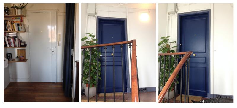 Changement de porte d 39 entr e la clamartoise for Changer une porte d entree