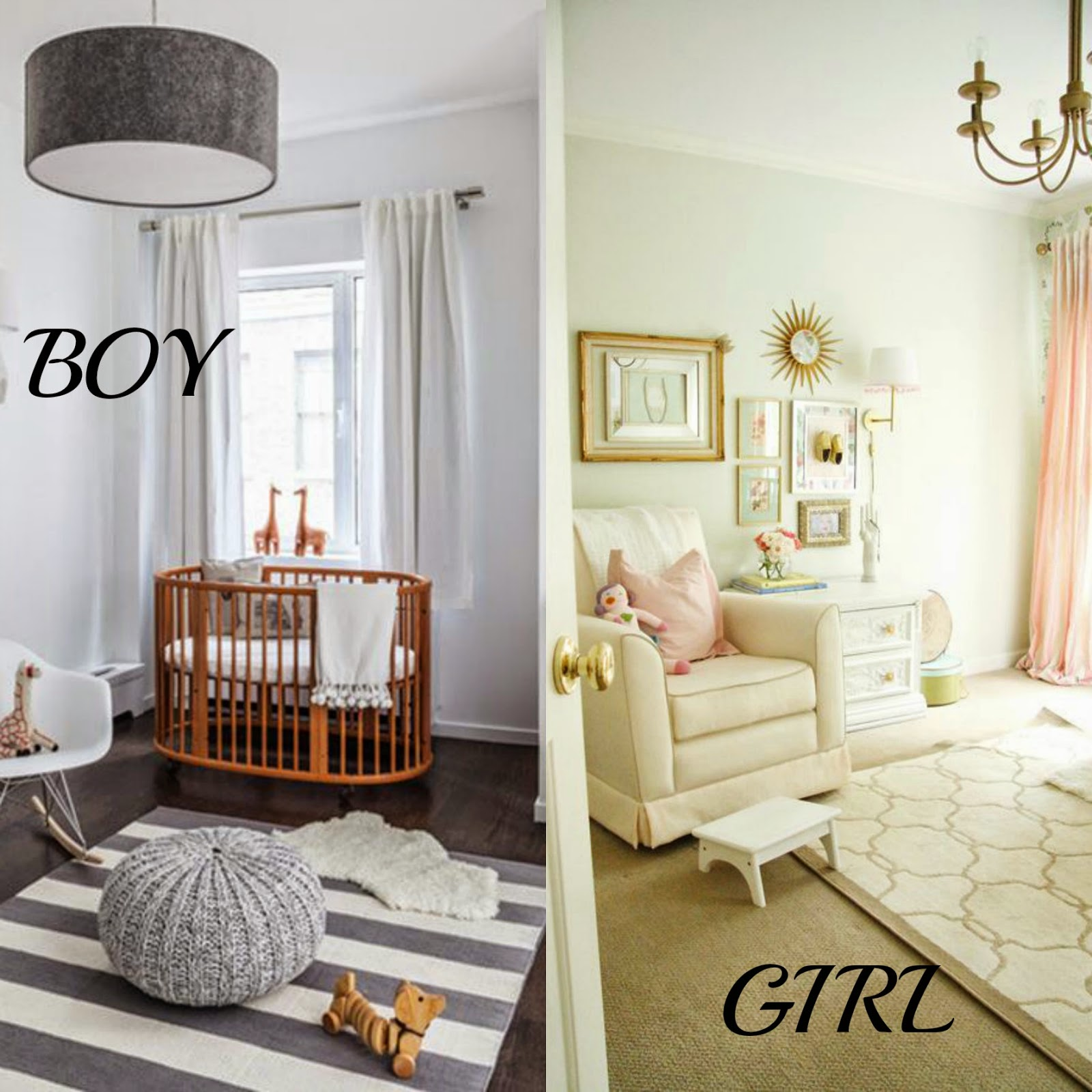 Boy and Girl Nursery Inspiration