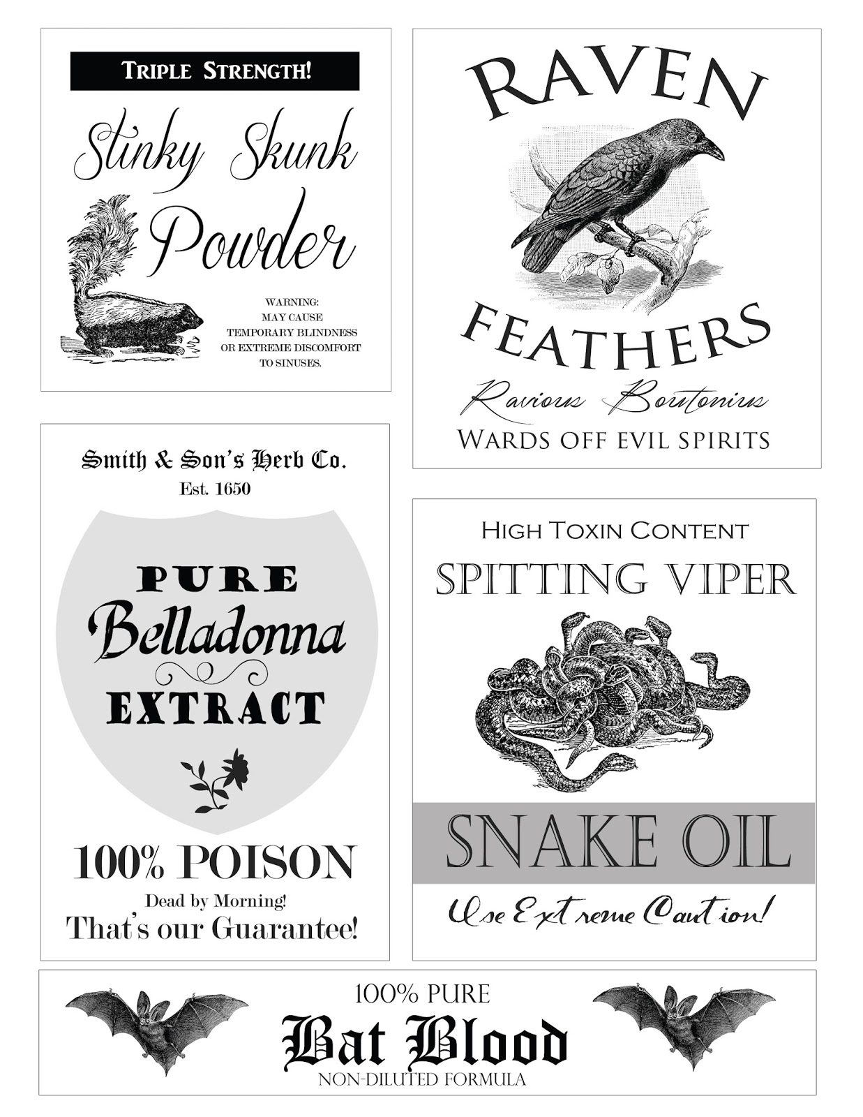 free halloween apothecary printables confessions of a new old