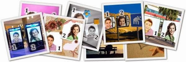 Montagem 2 fotos com molduras online
