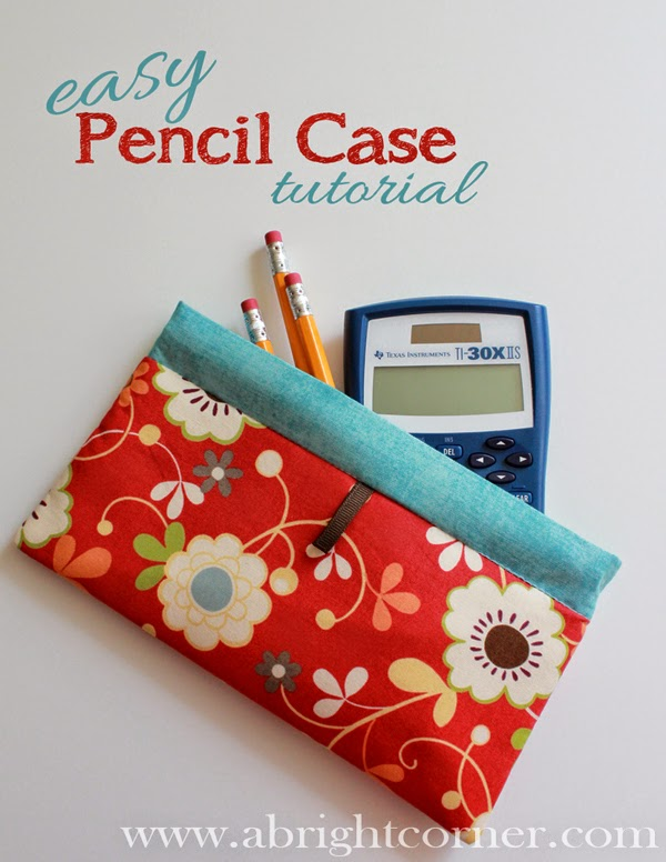 Easy pencil case tutorial found on A Bright Corner