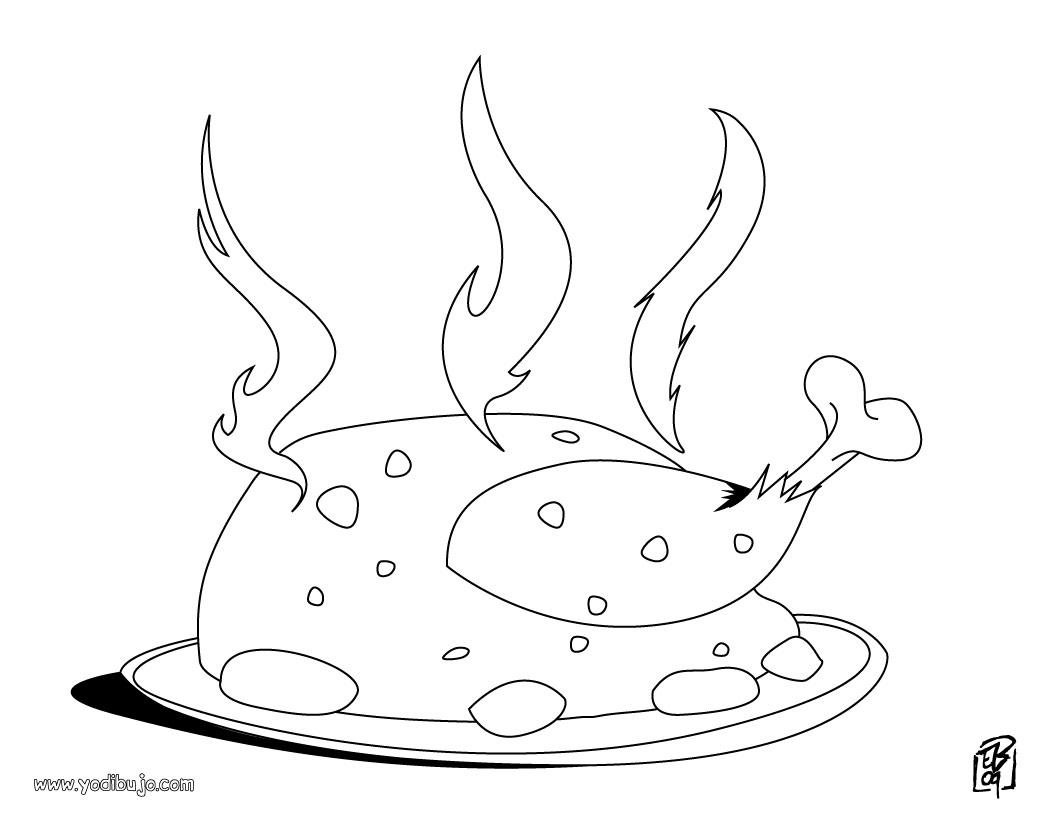 Lujoso Pollo Frito Para Colorear Ilustración - Dibujos Para Colorear ...