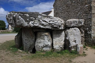 The dolmen at Crucuno, near Carnac, is thousands of years older than the surrounding houses