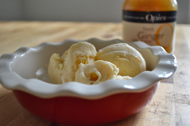 Stem Ginger Ice Cream with Opies