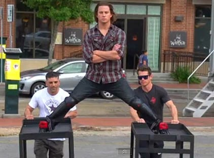 Channing Tatum Epic Split