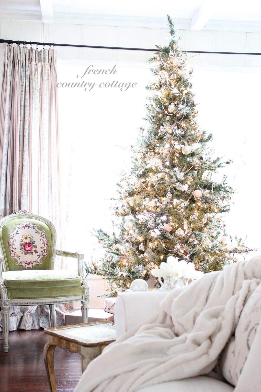 Silver gold tree french country cottage for Home goods decor ideas