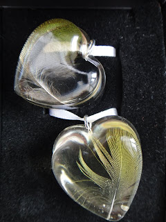 Budgie feather pendants